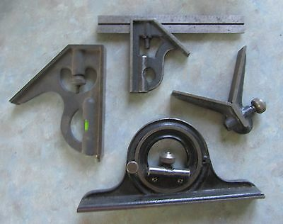 Starrett 6-in. combination square & other parts and pieces