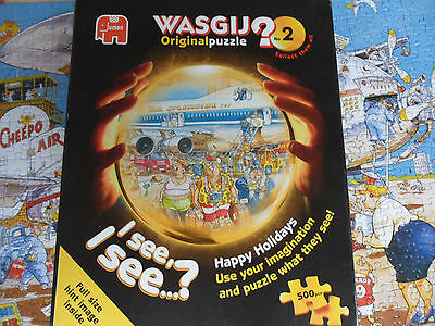 500 piece WASGIJ Original Jigsaw Puzzle Complete - Happy Holidays No 2
