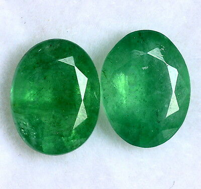 Certified Natural Oval Cut Pair 9x7 mm 3.21 Cts Green Shade Loose Gemstones