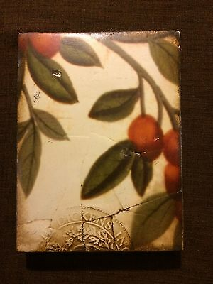 RETIRED SID DICKENS MEMORY WALL TILE T-100 Plums