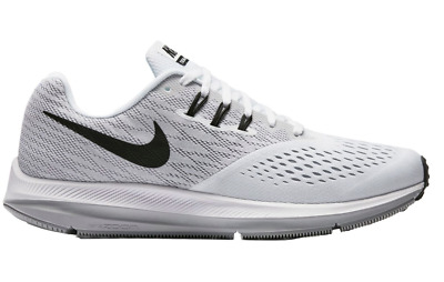 8fb275577cce4 NEW Nike ZOOM WINFLO 4 Mens Running Shoes 898466-100 White Black Wolf Grey  d1
