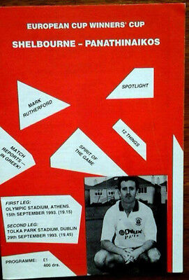 Shelbourne V Panathinaikos 29/9/1993 European Cup Winners Cup