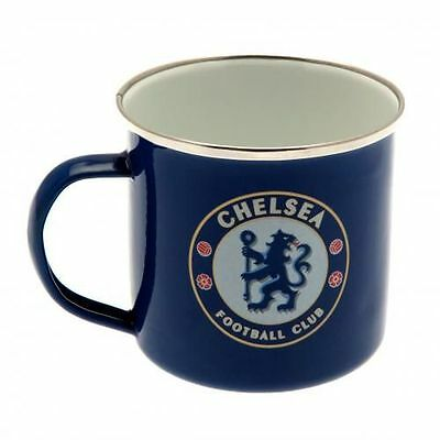 Chelsea Enamel Tin Mug - Official Merchandise - Ideal Football Gift for a Blue