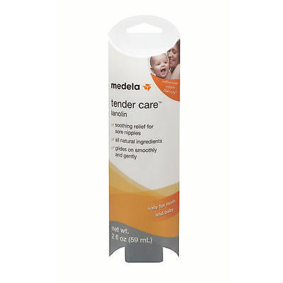 MEDELA - TENDER CARE LANOLIN BREASTFEEDING NIPPLE CREAM 2oz TUBE, NEW