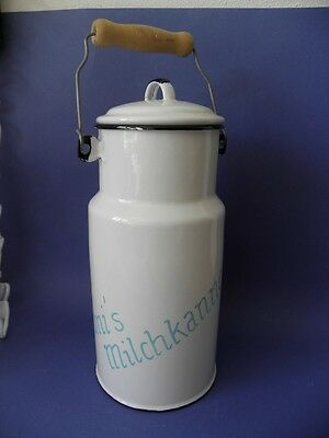 Milchkanne weisses Emaille 2 ltr. Shabby Chic
