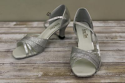 Very Fine Ballroom Dance 6030 Shoes - Women's Size 7.5, Silver