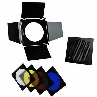 Professional Kit Barn Door A110 Honeycomb Grid Colour Filter x Elinchrom Bowens