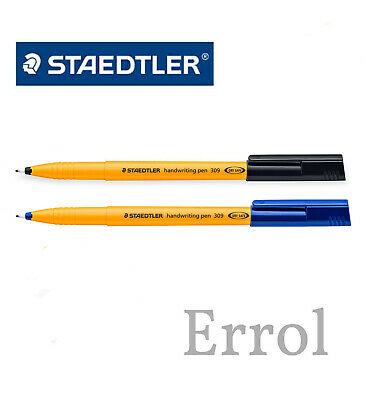 Staedtler Handwriting Pen. Blue or Black Ink. Choose Quantity. FIRST CLASS POST