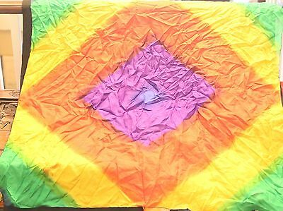 Rainbow squared pattern silk 36 inch size approx as shown