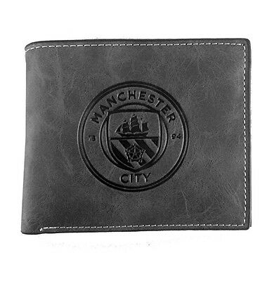 Man City Grey Faux Suede Wallet-Man City Suede Feel Wallet  - Ideal Gift