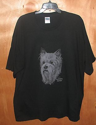 Yorkshire Terrier  Dark Brown Heather Or Black  T-shirt. New! Your Size!