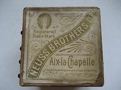 Large Antique Neuss  Brothers Pin Cube - Made in Germany- Aix-la-Chapelle