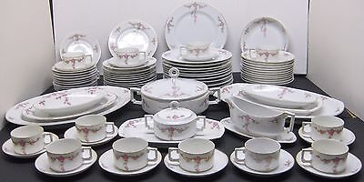 82 Pc. Vtge H&Co Rosalinda Heinrich China 6 Piece Place Setting Service for 12 +