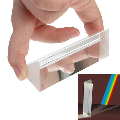10CM  Amlong Crystal Optical Glass Triangular Prism for Teaching Light Spectrum