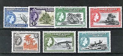 Gilbert & Ellice Is 1956 7 Values To 10/- Um As Scan