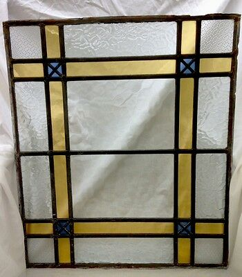 Antique Stained Glass Leaded Window Panel from Old Church c1890's