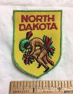 North Dakota ND Native American Indian Dancer Souvenir Voyager Patch