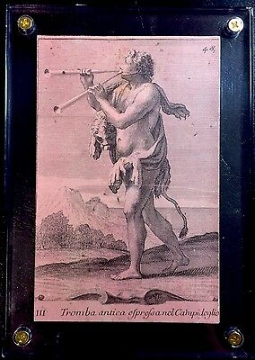 c1890 Playing Music Card Gabinetto Armonico Filippo Buonanni Rare Italian Piece
