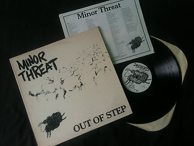 "Minor Threat - Out Of Step 12"" EP US 1983  VG+/EX-   # Punk  Rare 1st press"