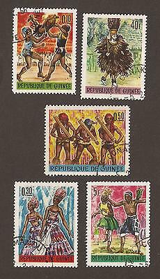 Guinea 1966. Scott 405-409, (used) Full Set.  Dance