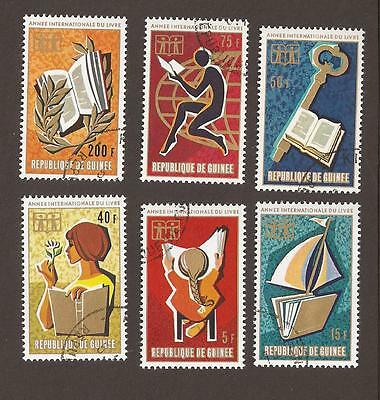Guinea 1972. Scott 612-617, (used) Full Set.  Book reading,