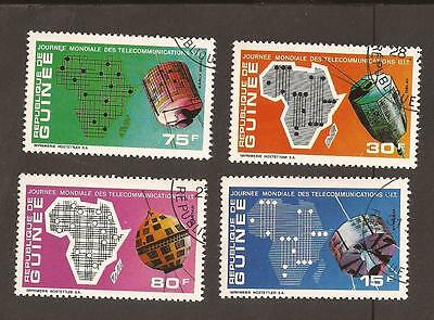 Guinea 1972. Scott 604-607, (used) Full Set. Telecommunications, satellites