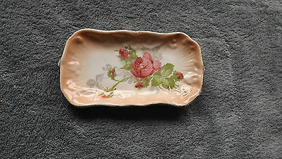 Small Collectable China Pin Dish, Rose Design