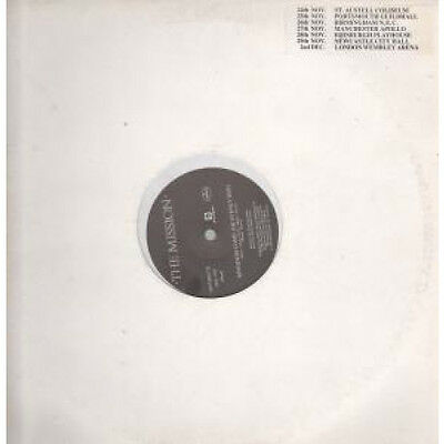 "MISSION Kingdom Come 12"" VINYL 2 Track Heavenly Mix Promo With Tour Dates Stic"