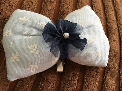Hair Clip Child's Padded Large Bow Ribbon Flower Organza Bow Pearl Fee girls