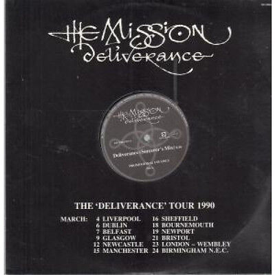 "MISSION Deliverance 12"" VINYL 2 Track Sorcerers Mix Promo In Die Cut Special T"