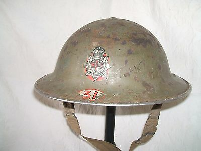 WW2 British NFS Helmet - Area 31 Brighton Home Front - AFS - Dated 1939