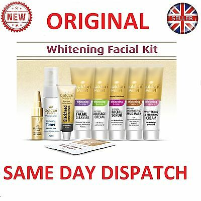 Golden Pearl Whitening Facial Kit & Beauty Cream With Serum And Scrub