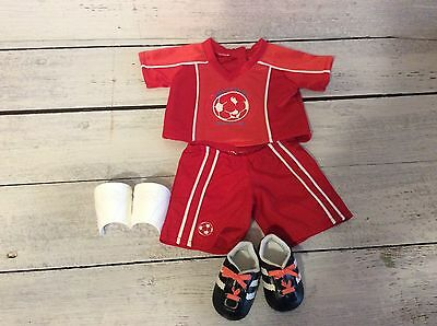 American Girl Bitty Twin Red Soccer Outfit