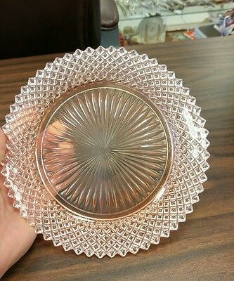 "Miss America Pink Salad Plate 8 1/2"" - Stunning"
