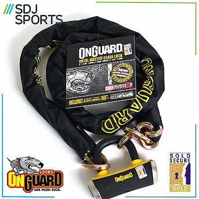 Onguard Mastiff 8019L Heavy Duty Cycle Security Bike Gold Sold Secure Rating