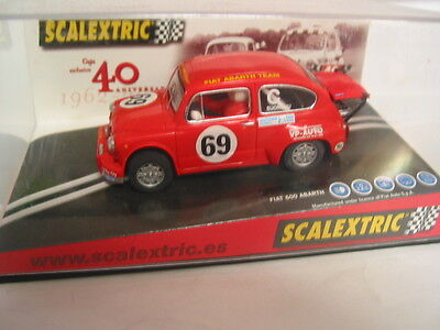 Scx - Scalextric Compatible Fiat 600 Abarth 40Th Anniversary 1962-2002 #69 Bnib