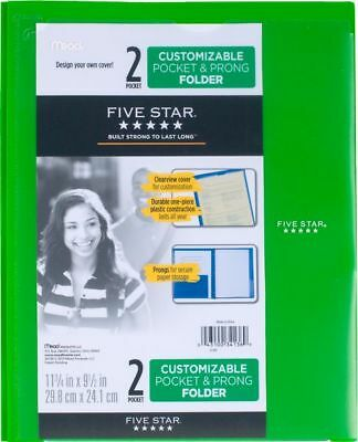 Five Star Customizable Pocket and Prong Plastic Folder - Pocket And Prong
