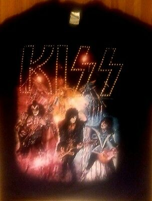 Kiss Unmasked Tour Shirt Xl