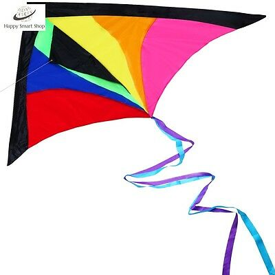 High Quality Huge Colorful Kite Kids Adult Best Easy Flyer Long Flying Line Gift