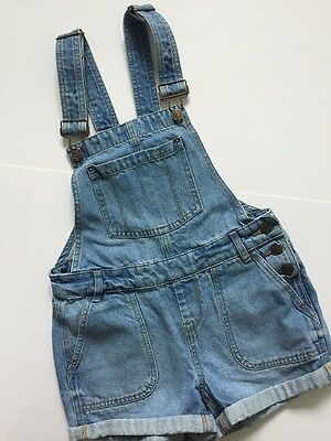 New Look Summer Denim Short Dungarees Age 11 Years Girl