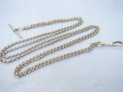 Made Up Odd Antique Sterling Silver Double Watch Albert Chain Chatelaine ?
