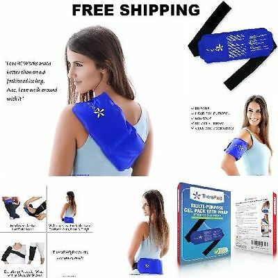 Gel Ice Therapy Pack HOT COLD Reusable Wrap Shoulder Neck Ankle Hip Pain Relief