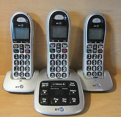 BT Big Button 4500 Cordless House Home Telephone With Answer Phone- Trio UB