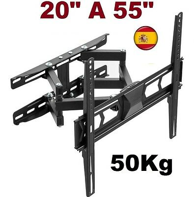 "Soporte de pared para tv lcd led 4k plasma 20"" a 55"" smart giratorio inclinable"