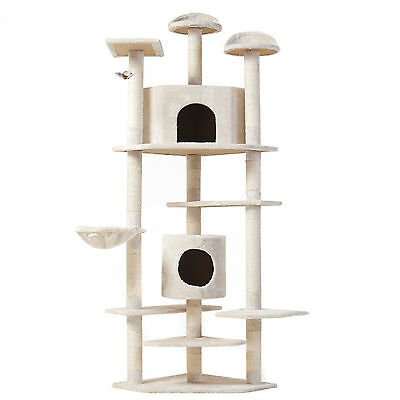 """Cat Tree 80"""" Condo Furniture Scratching Post Pet Cat Kitten House High Quality"""