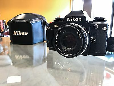 **MINT** Nikon FG Film SLR w/Nikkor 50mm f/1.8 Lens - Black