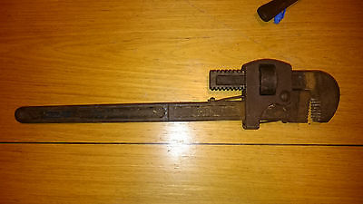 """RECORD STILSONS 18"""" PIPE WRENCH vintage DROP FORGED STEEL"""