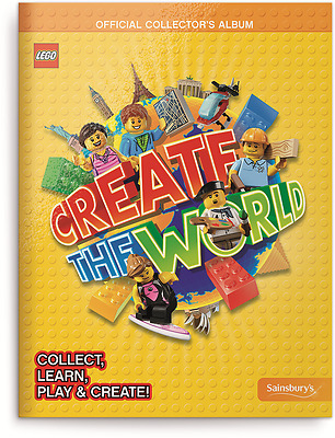 Lego Create The World Trading Cards Book. Official Collectors Album. Sainsburys