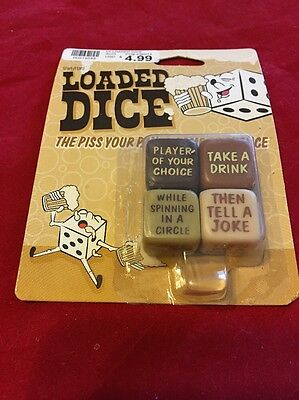 Loaded Dice Drinking Game Piss Your Pants Game Of Chance NIB