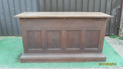 Antique / Vintage Church Alter Old English Oak, Table / Bar / Counter
